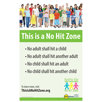 This is a No Hit Zone Poster ENGLISH (#3006-E)