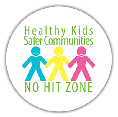 No Hit Zone Round Sticker ENGLISH (#3010-E)